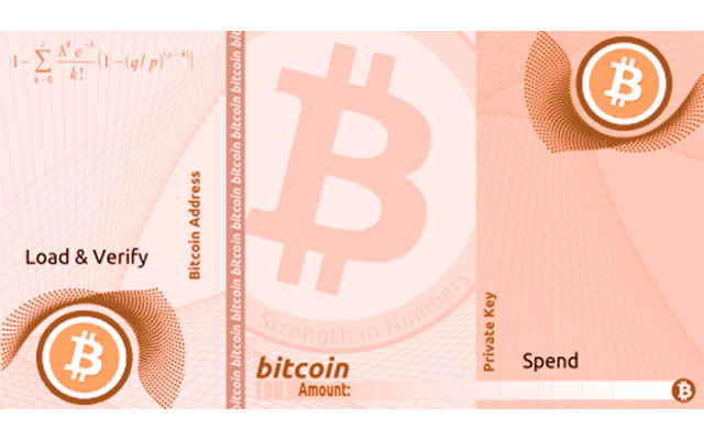 cartera de papel bitcoin